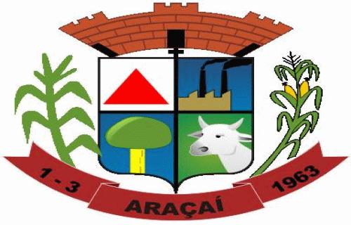 Brasão del município de Araçaí