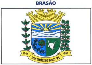 Brasão del município de Dois Irmãos do Buriti