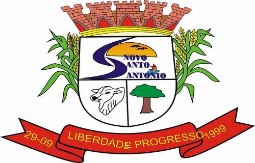 Brasão del município de Novo Santo Antônio