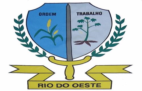 Brasão del município de Rio do Oeste
