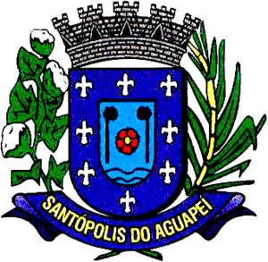 Brasão del município de Santópolis do Aguapeí