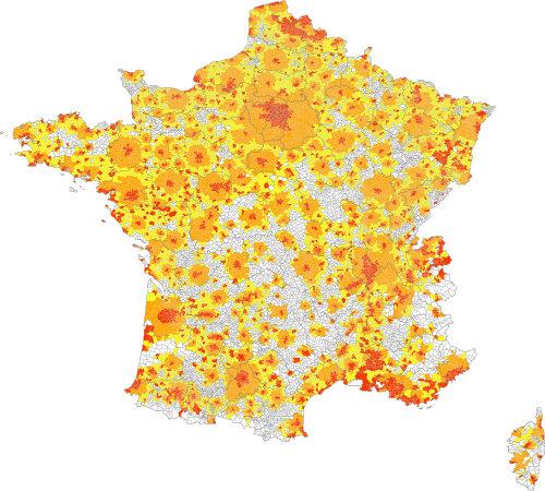 Carte France Aire Urbaine
