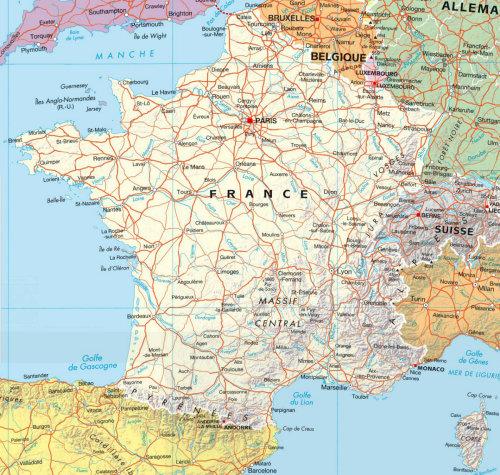 Carte des villes françaises