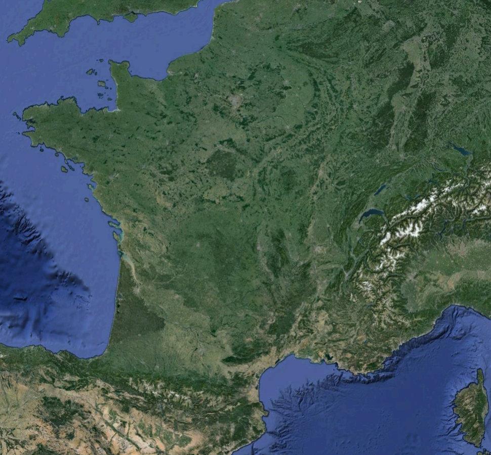 carte de france satellite