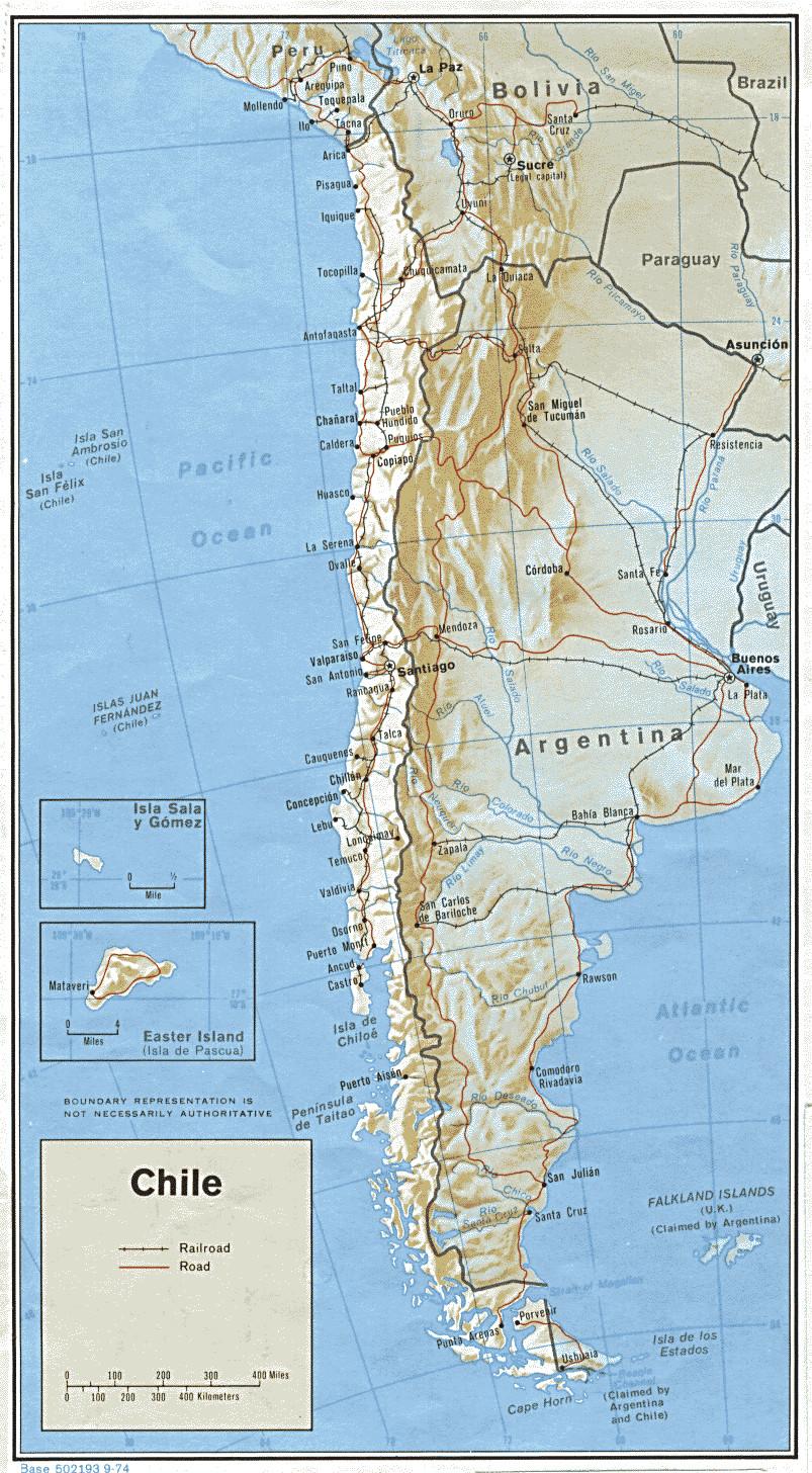 Carte géopolitique de Chili