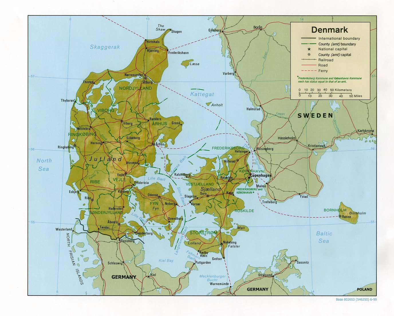 Carte géopolitique du Danemark