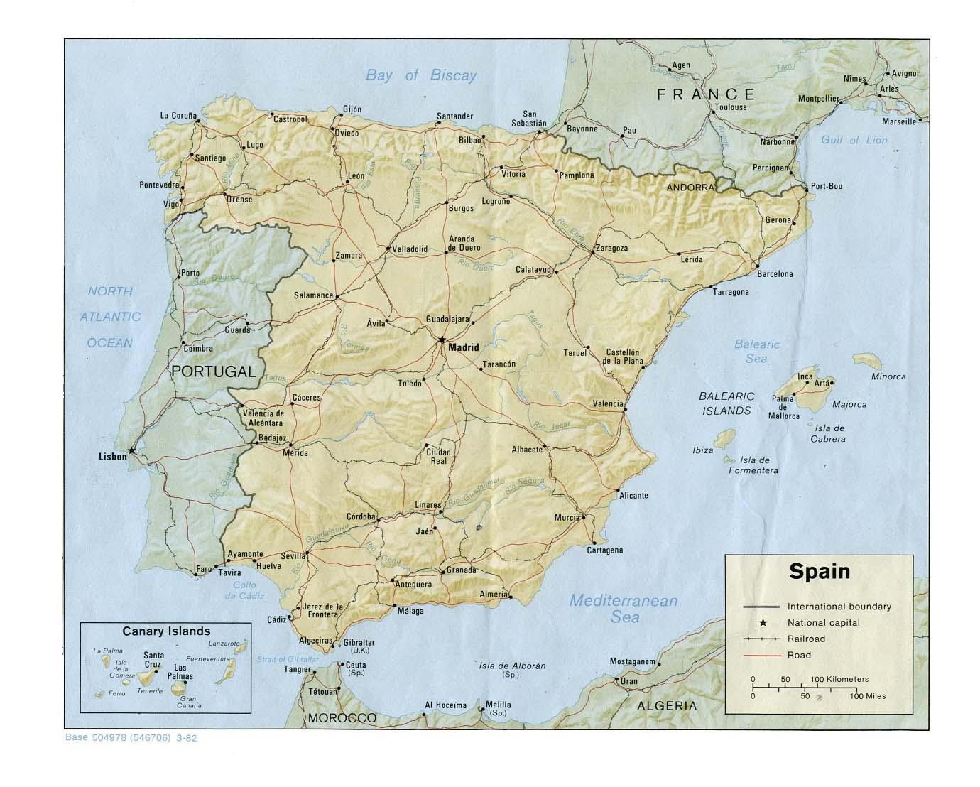 Carte géopolitique de l'Espagne