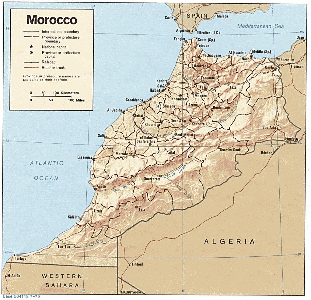 Carte géopolitique du Maroc
