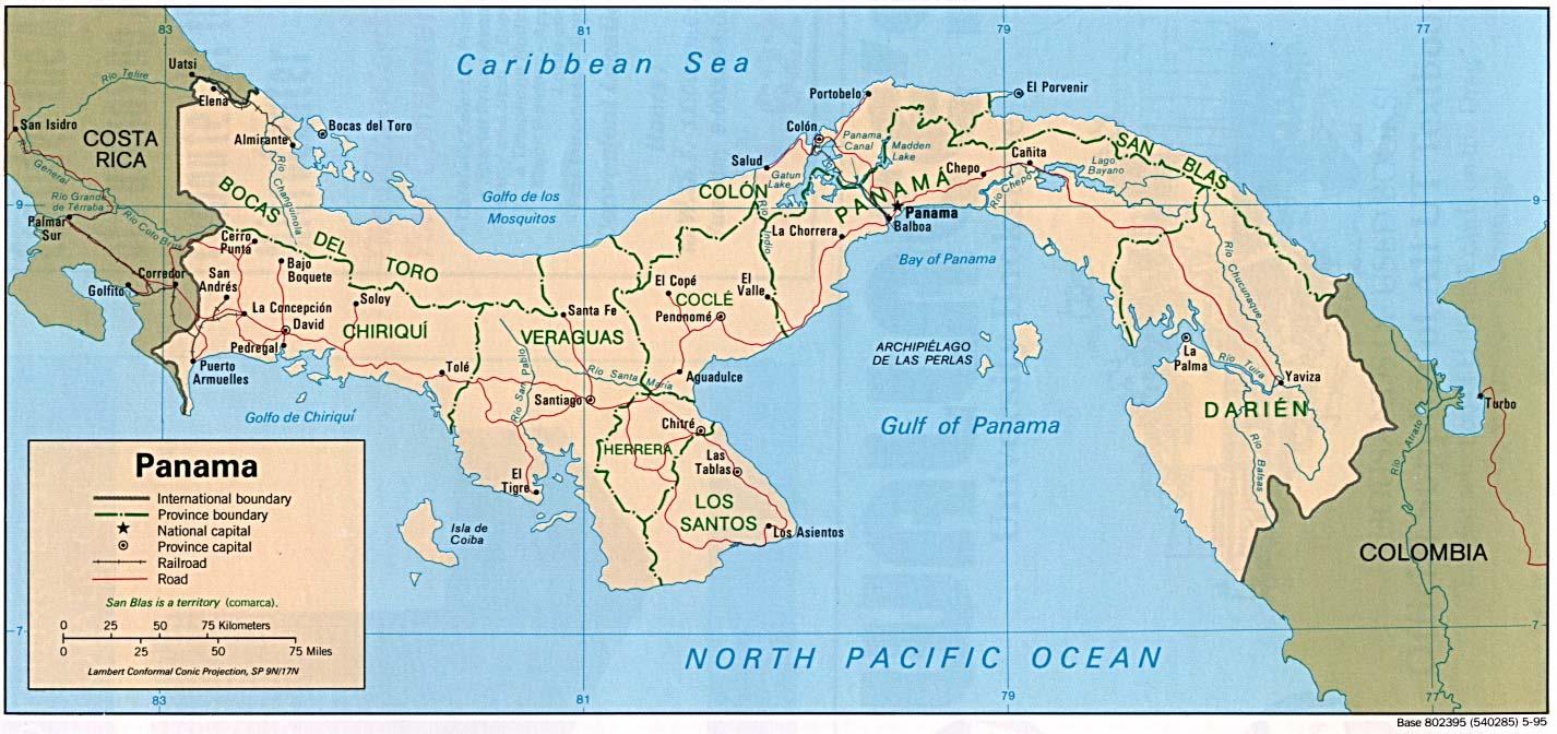 Carte géopolitique du Panamá
