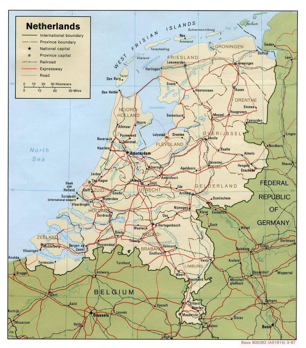 Carte géopolitique des Pays-Bas