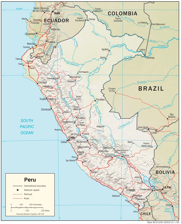 Carte géopolitique du Pérou