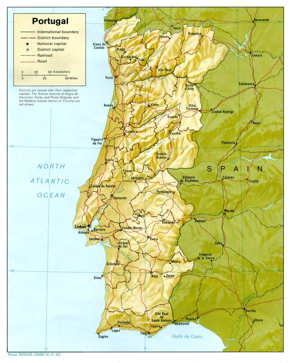 Carte géopolitique du Portugal