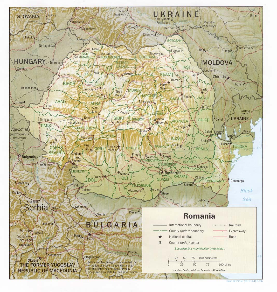 Carte géopolitique de la Roumanie