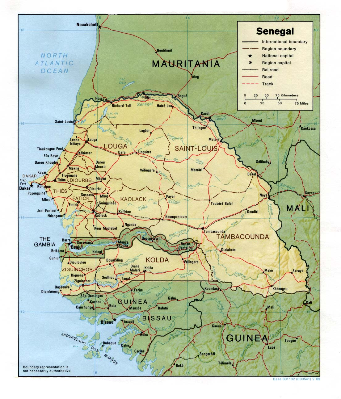 Carte géopolitique du Sénégal
