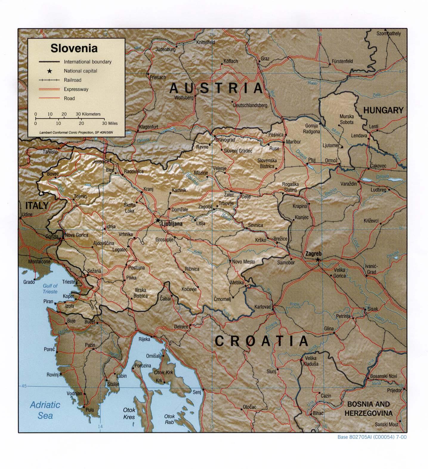 Carte géopolitique de la Slovénie