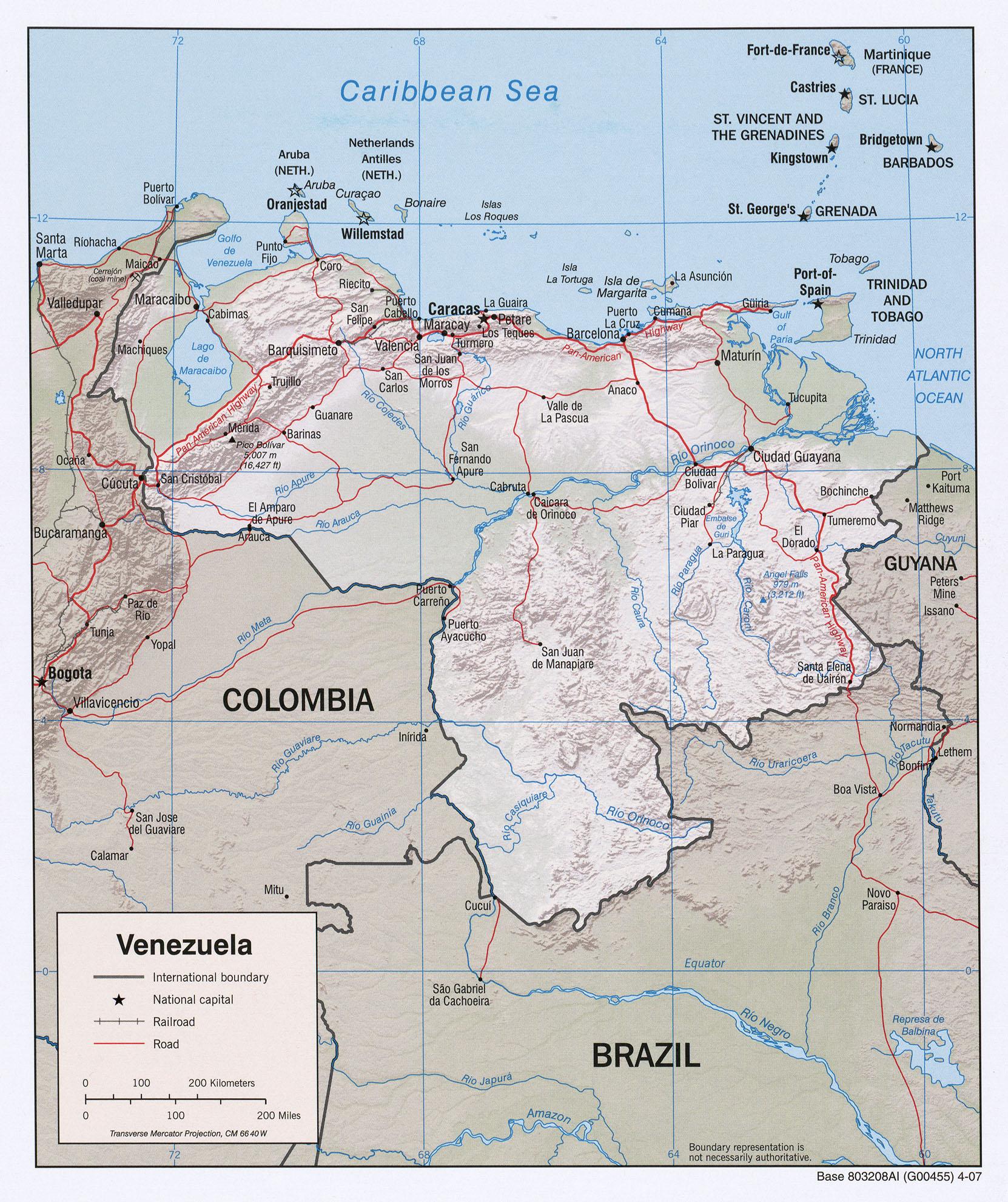 Carte géopolitique du Venezuela