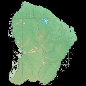 Carte du Conseil départemental de la Guyane