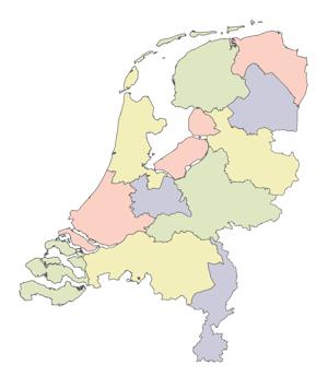 Regio van het land
